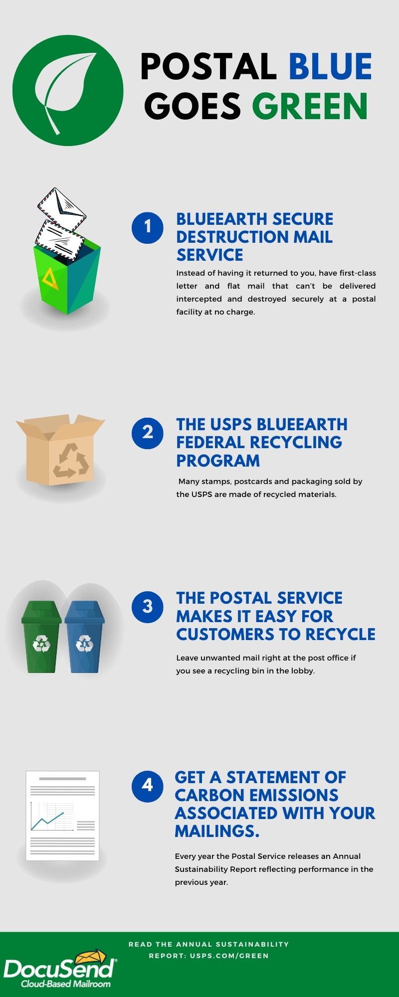 Postal Blue Goes Green