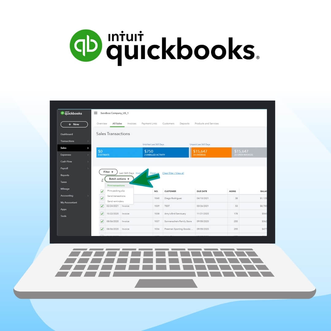 Print and Mail Quickbooks Invoices